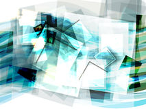 Abstract blue background with moving squares royalty free illustration