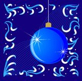 Abstract blue background with a new-year marble Stock Photos