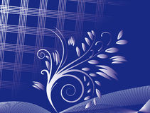 Abstract blue background with ornament Royalty Free Stock Photo