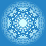 Abstract blue background with ornament Stock Image