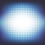 Abstract blue background with a pattern of circles. Space for text. Royalty Free Stock Photography