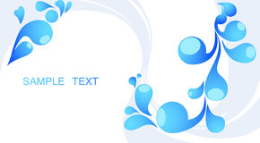 Abstract blue background with place for your text Stock Photo