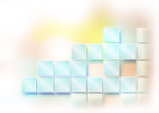 Abstract blue background with rhombus Stock Image
