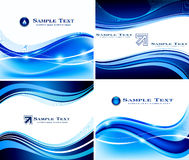 Abstract blue background set Stock Images