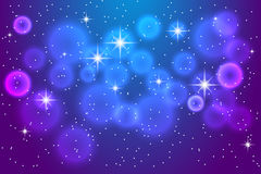 Abstract blue background with shining stars. Royalty Free Stock Images