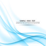 Abstract blue background with smooth lines. EPS 10 vector royalty free illustration