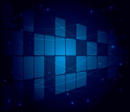 Abstract blue background with squares - eps 10 Royalty Free Stock Image