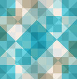 Abstract blue background squares rectangles in geometric pattern. Design. Diamond shapes and line design elements Royalty Free Stock Images