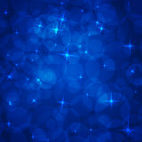 Abstract blue background. Stars and circles. Abstract blue background Stock Photos