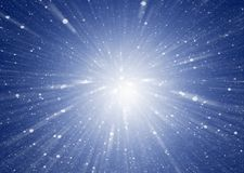 Abstract blue background with stars collecting in the middle. Cosmic background Stock Image