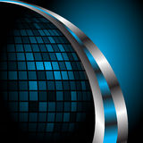 Abstract blue background template. Clip-art royalty free illustration