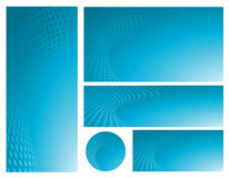 Abstract Blue Background Template Set Stock Photo