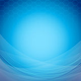 Abstract blue background template with waves Royalty Free Stock Photo