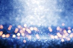 Abstract blue background with tender bokeh Stock Photo