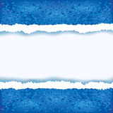 Abstract blue background with torn paper Royalty Free Stock Image