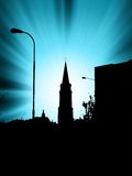 Blue sunshine in town Royalty Free Stock Photo