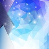 Abstract blue background, triangle design vector Royalty Free Stock Photography