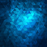 Abstract blue background with triangles. Abstract Royalty Free Stock Photo