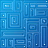 Abstract blue background. Vector. Vector illustration background depicting an abstract labyrinth circuit board Royalty Free Stock Photos