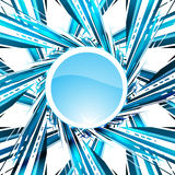 Abstract blue background. Vector illustration. Clip-art Stock Images