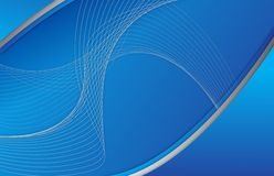 Abstract blue background wave illustration Stock Images