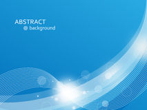 Abstract blue background. Blue abstract background with wave lines and shine royalty free illustration