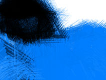 Abstract blue background. Wave or veil texture Stock Photo