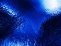 Abstract blue background. Wave or veil texture Royalty Free Stock Photography
