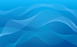 Abstract blue background waves Stock Photo