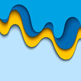 Abstract blue background. Wavy design Stock Photo