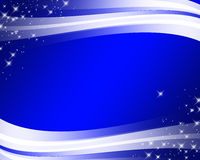 Abstract blue background with wavy lines Royalty Free Stock Image