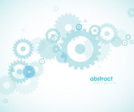 Abstract blue background with wheels. Royalty Free Stock Photography