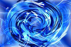 Abstract blue background with white lines Stock Photo