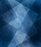 Abstract blue background white striped pattern and blocks in diagonal lines with vintage blue texture