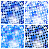 Abstract blue backgrounds with circles Stock Images