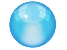 Abstract blue bal Stock Photo