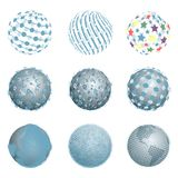 Abstract Blue Balls Stock Images