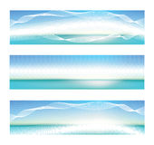 Abstract blue banner Stock Images