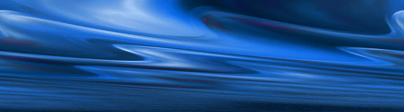 Abstract blue banner Royalty Free Stock Images