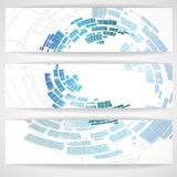 Abstract Blue Banner. Vector Illustration. Eps 10 Royalty Free Stock Photography