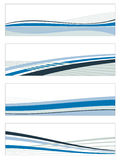 Abstract blue banners Royalty Free Stock Photography
