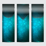 Abstract blue banners. Abstract blue colorful website header or banner set Stock Photo