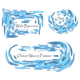 Abstract blue banners Royalty Free Stock Images