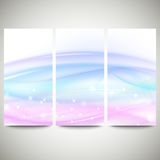 Abstract blue banners set, wave vector design Stock Photo