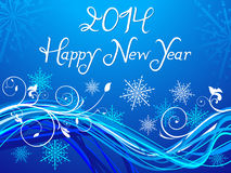 Abstract blue based new year background Stock Photos