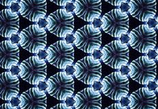 Abstract blue black circle pattern wallpaper. Stock Images