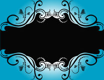 Abstract Blue Black Design Stock Image