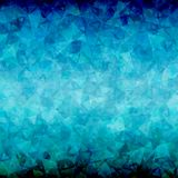 Abstract Blue black triangle background. Abstract blue black triangle vector background with blackout at top and bottom sides Royalty Free Stock Image