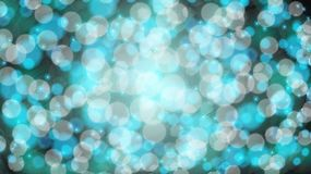 Abstract blue blurred background with bokeh effect. Magical bright festive multicolored beautiful glowing shiny with light spots stock illustration