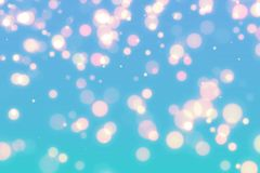 Abstract blue bokeh background. Stock Photo